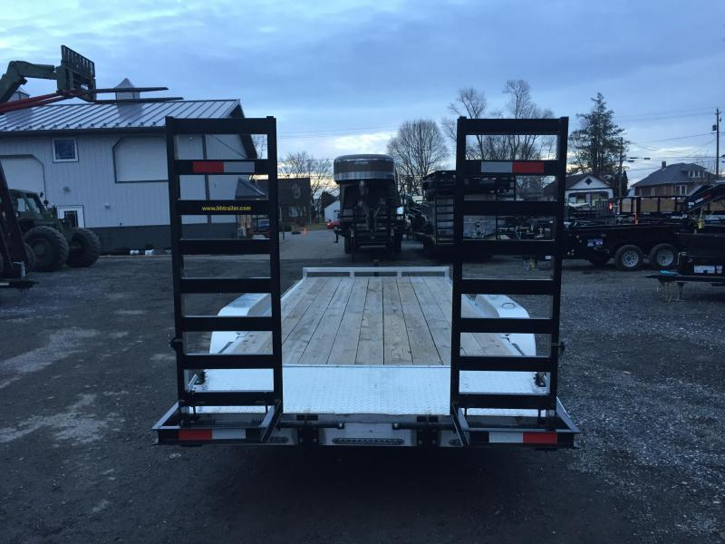 2017 H and H Trailer HAD 7x18 ALUMINUM Equipment Trailer 9990# GVW