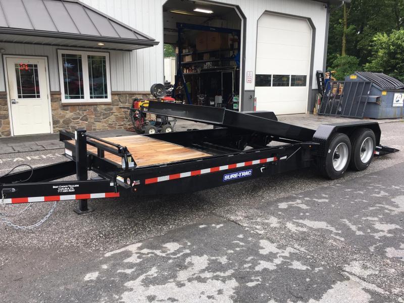 2017 Sure-Trac Tilt Bed Equipment Trailer 7'X18+4' 16000#