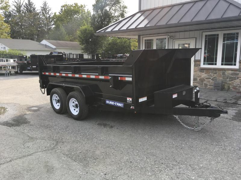2018 Sure-Trac 7x12' Low Profile Hydraulic Dump Trailer 12000# DUAL PISTON - BASE