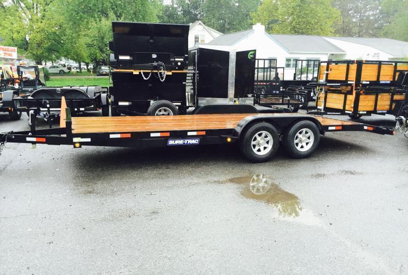 2017 Sure-Trac CHW 7x20 7000# Wood Deck Car Hauler
