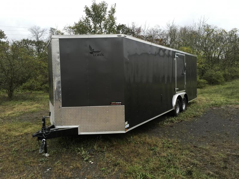 2017 Lark 8.5x24' Enclosed Car Trailer 7000# GVW - ESCAPE DOOR