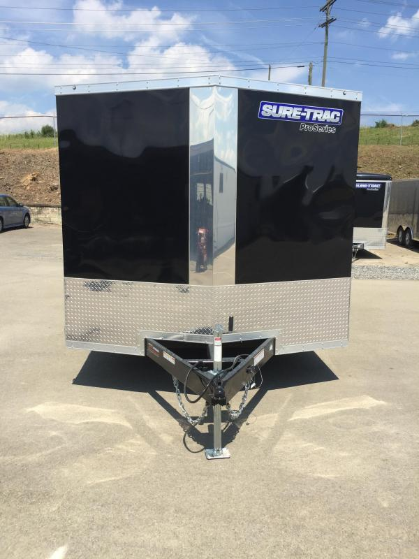2017 Sure-Trac 8.5x20' 9900# STWCH Commercial Enclosed Cargo Trailer ROUND TOP RAMP DOOR BLACK/PEWTER ALUMINUM WHEELS TORSION ESCAPE HATCH FINISHED FLOOR AND WALLS 2-TONE