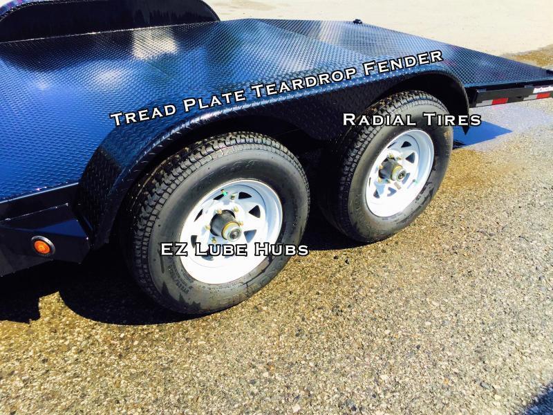 2017 Sure-Trac 7x18 Steel Deck Car Hauler 7000# Race Trailer LOW LOAD ANGLE