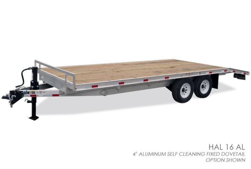 2017 H&H 102x18+4 Aluminum Deckover Equipment Trailer 14000#
