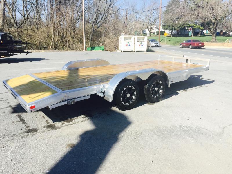 2017 H&H 7x18' Aluminum Car Hauler 7000# GVW ALUMINUM WHEELS HEAVY FRAME