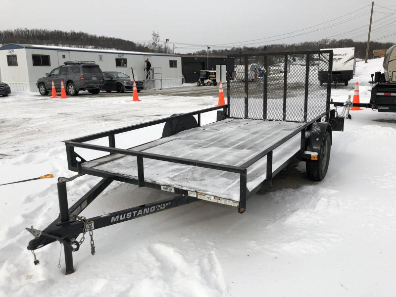"USED 2014 Mustang 76""x12' Utility Trailer 2990# GVW"