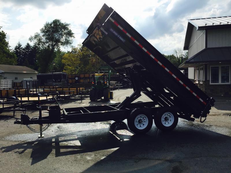 2018 Sure-Trac 8x14 HD Deckover Dump Trailer Fold Down Sides 14000# GVW