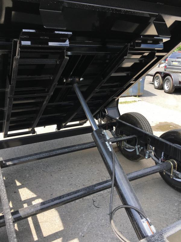 2017 Sure-Trac 6x10' 9900# LP Hydraulic Dump Trailer DROP LEG JACK UNDERMOUNT RAMPS COMBO GATE