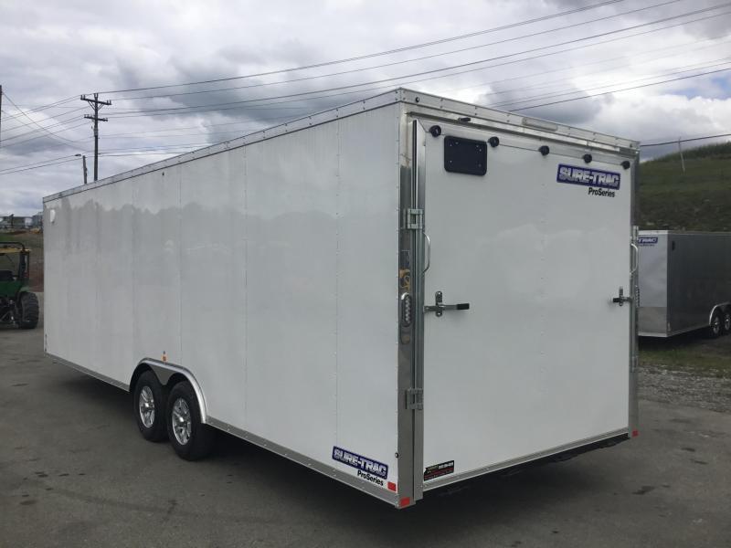 2017 Sure-Trac 26' Enclosed Car Trailer 9900# GVW - STWCH10226TA-100