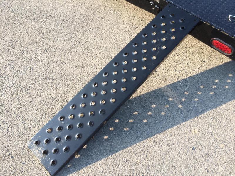 2017 Sure-Trac 7x18 9900# Steel Deck Car Trailer Low Profile/Low Angle DROP LEG JACK
