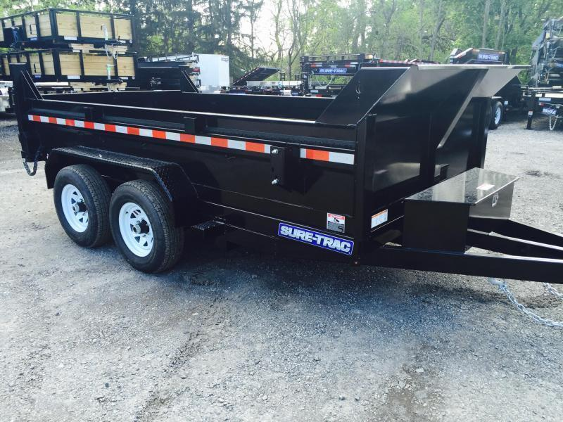 2018 Sure-Trac 6x12' Dump Trailer 9900# GVW - DROP LEG JACK UNDERMOUNT RAMPS COMBO GATE