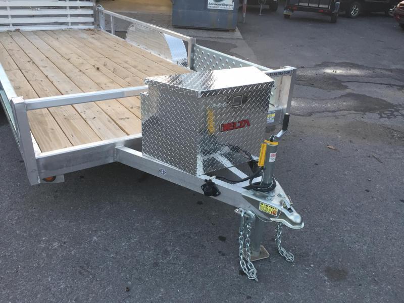 qsa deluxe 7x16u0027 gvw deluxe aluminum landscape utility trailer side atv ramps - Aluminum Ramps