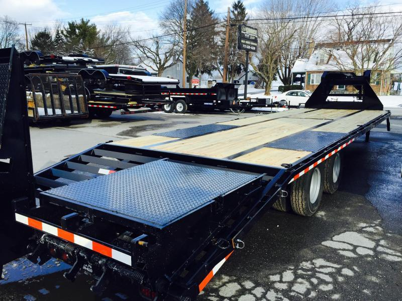 2016 Sure-Trac 102x27+5 22.5K Beavertail Deckover Trailer Pierced Frame Full Width Ramps
