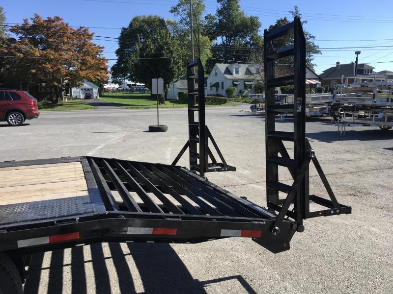 2018 Lamar 102x18+4' Deckover Equipment Trailer 14000# GVW - Stand Up Ramps