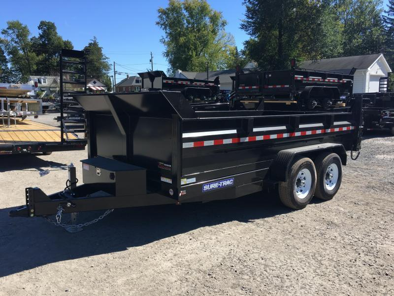 2018 Sure-Trac 7x14' LowPro HD Dump Trailer 14000# GVW