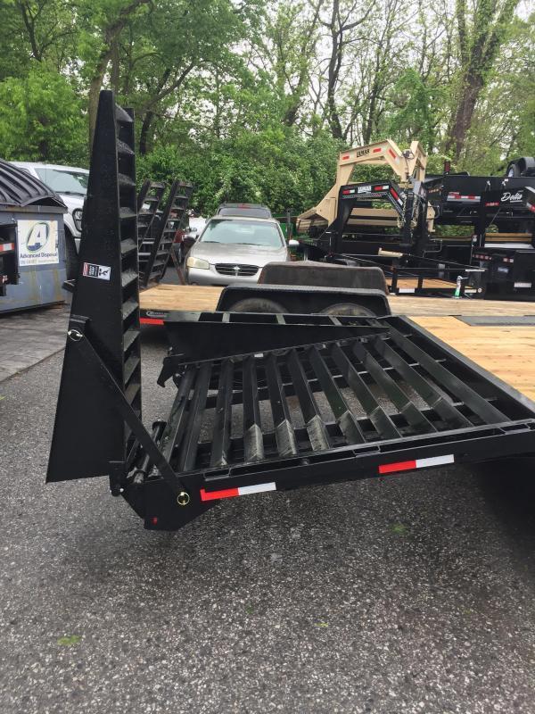 2017 Lamar 102x24' 14000# Gooseneck Deckover Equipment Trailer FLIPOVER RAMPS