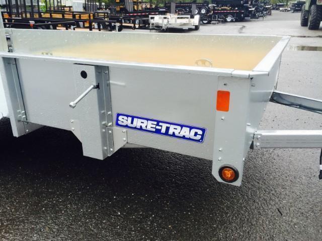 2017 Sure-Trac 6x10' Galvanized High Side Landscape Utility Trailer 2990# GVW