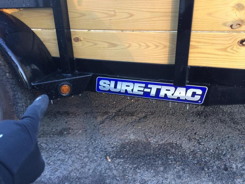2018 Sure-Trac 7x16' Tube Top Three Board High Side Landscape Utility Trailer 7000# GVW