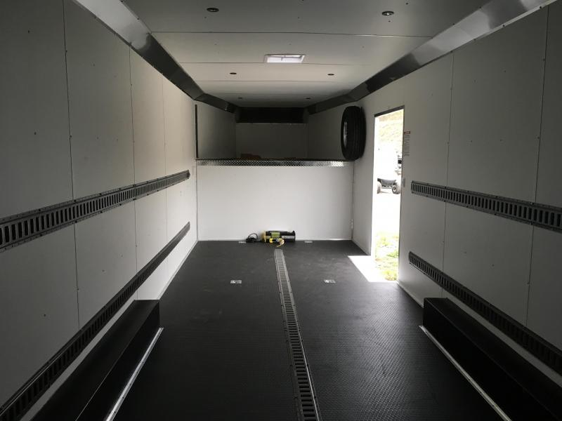 USED 2017 United Trailers 8.5x34' GN Enclosed Car Trailer 14000# GVW - LOTS OF OPTIONS