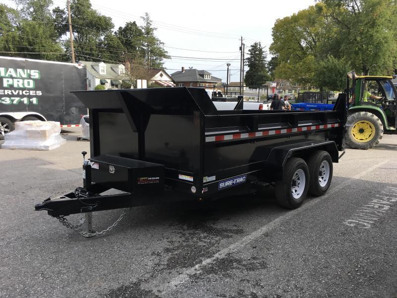2018 Sure-Trac 7x12' LowPro Dump Trailer 9900# DUAL PISTON - BASE
