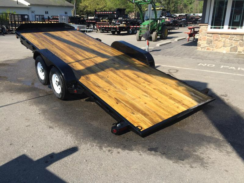2017 Sure-Trac 7x18' 7000# Tilt Wood Deck Car Hauler POWER TILT