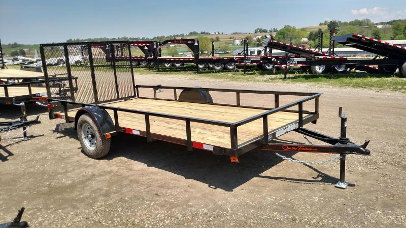NEW 2018 Quality 6x14 General Duty Utility Trailer w/ Spring Assist Gate