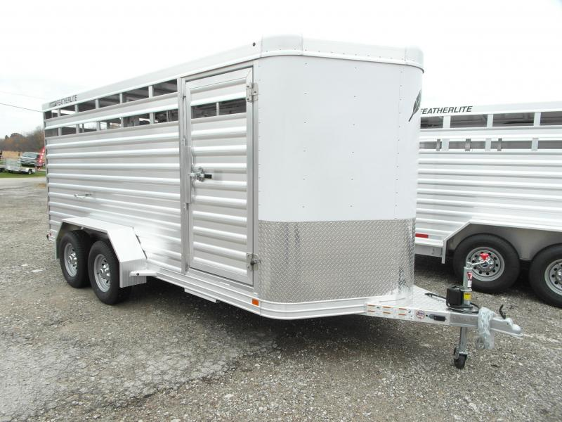 NEW 2017 Featherlite 16' Aluminum Bumper Pull Stock Trailer