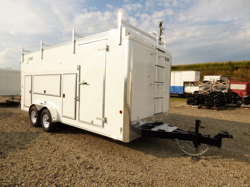 NEW 2017 Car Mate 7x18 HD Contractor Trailer w/ Exterior Toolboxes