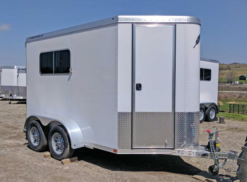 2017 Featherlite 10' (2) Horse Straight/Slant Combo Trailer w/ ATV/Side By Side Ramps!