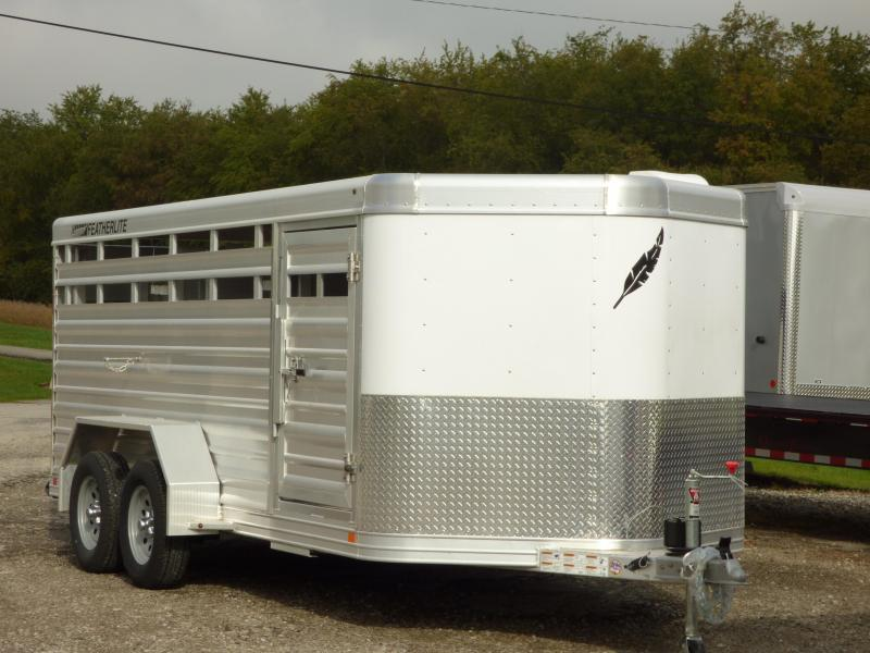 "2017 Featherlite 16' LO PRO 5'3""H Small Animal Stock Trailer"