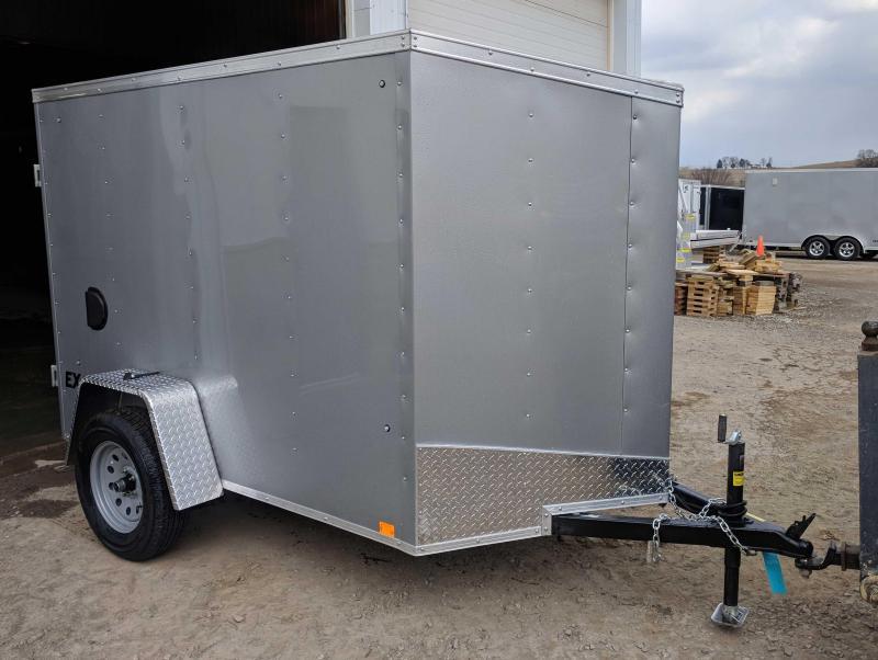 NEW 2020 Cargo Express 5x8 EX DLX V-Nose Cargo Trailer w/ Barn Door