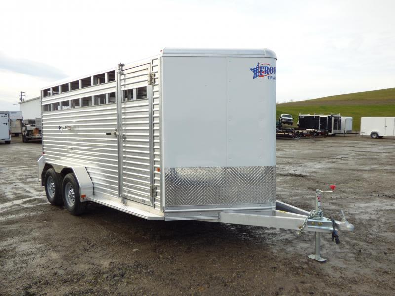 NEW 2017 Frontier 16' Aluminum Stock Trailer