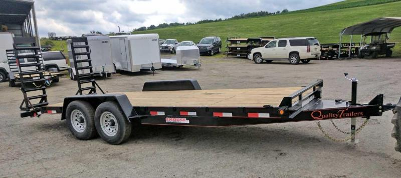 NEW 2018 Quality 20' General Duty Equipment Trailer w/ Spring Assist Ramps