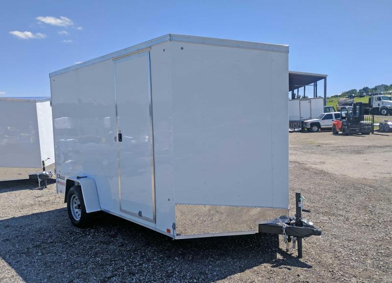 NEW 2018 Cargo Express 7X12 EX DLX Sloped V-Nose  w/ Ramp Door & Additional 12