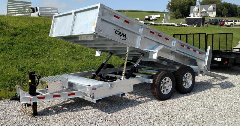 NEW 2017 Cam Superline 6x14 HD GALVANIZED Lo Pro Equipment Dump w/ Pallet Fork Carrier