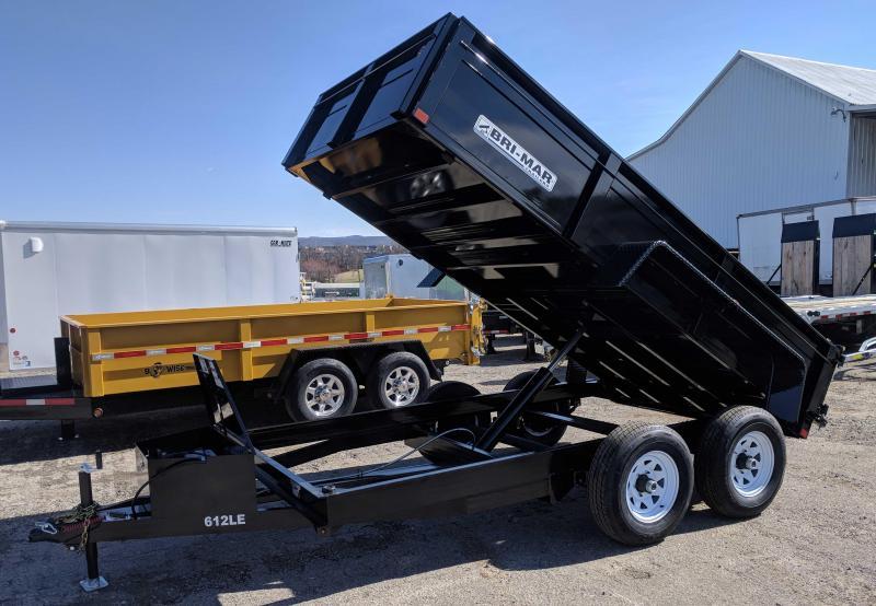NEW 2018 Bri-Mar 6x12 LE Lo Pro Equipment Dump Trailer