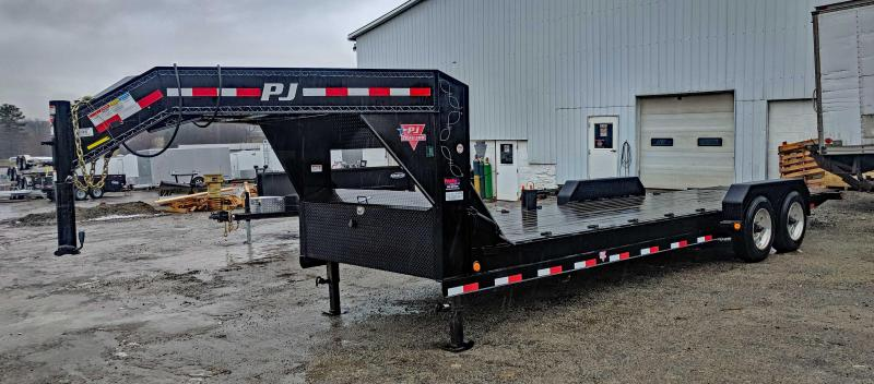 USED 2015 PJ 24' Lo Pro Gooseneck Equipment Tilt Trailer