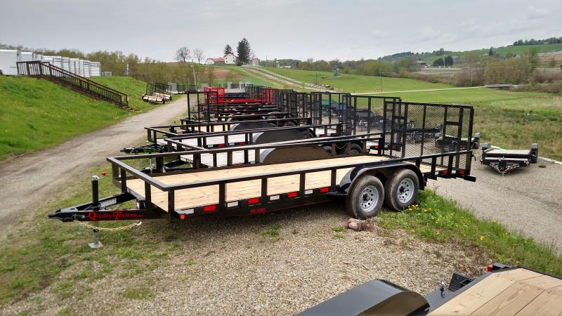 NEW 2018 Quality Trailers 7X20 HD Pro w/ Spring Assist Gate & 2' Dove