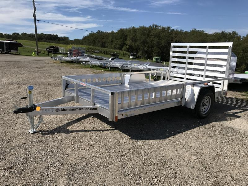 NEW 2018 ATC 7X12 Aluminum Utility Trailer w/ Side Ramp & Rear Gate