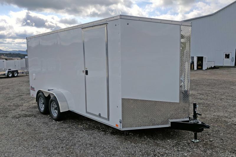 NEW 2018 Cargo Express 7X16 XLW Sloped V-Nose w/Barn Door & Additional 6