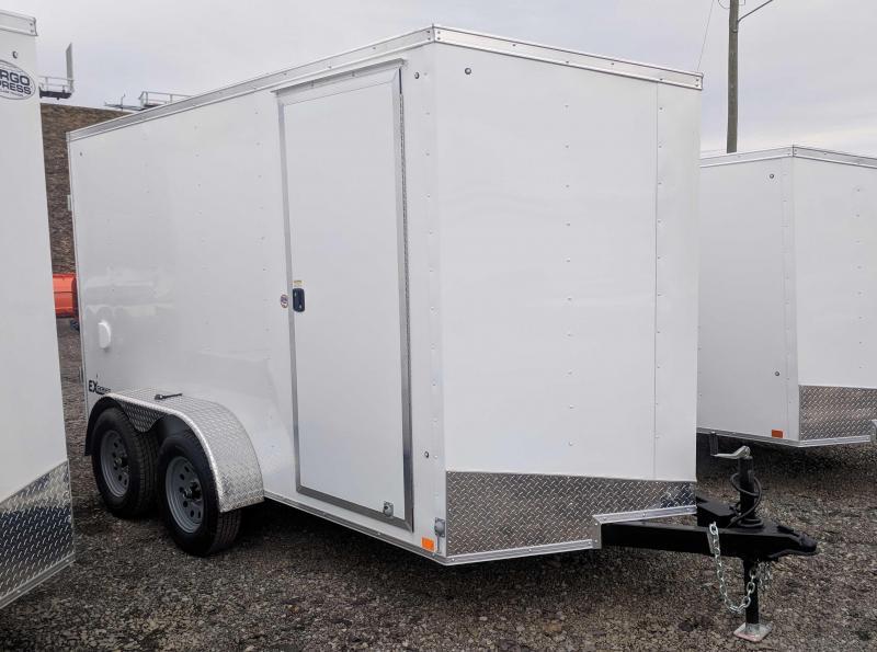 NEW 2019 Cargo Express 6X12 HD EX DLX Sloped V-Nose w/ Barn Doors & 6