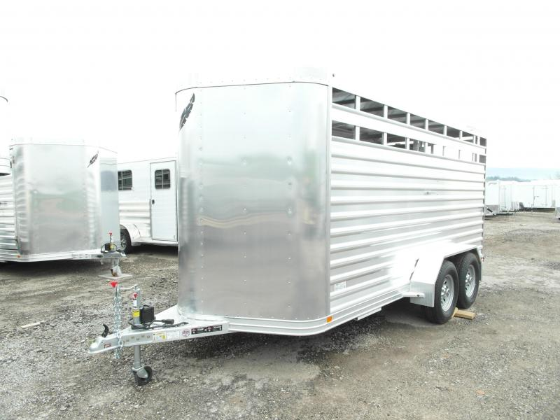 NEW 2017 Featherlite Aluminum 16' Stock Trailer -6'6