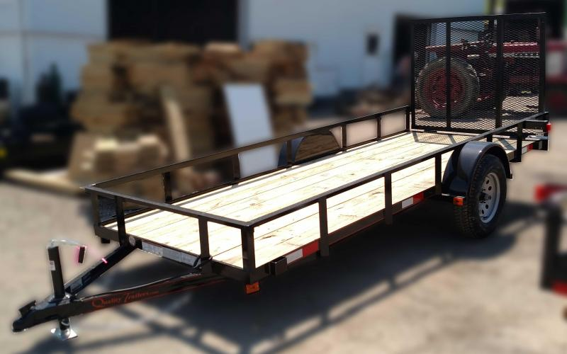 NEW 2018 Quality 5x14 General Duty Utility Trailer