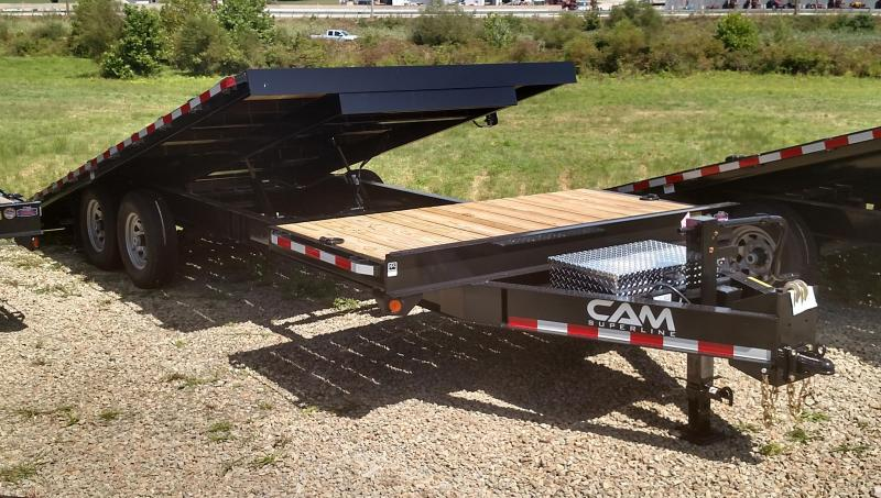 NEW 2018 CAM 24' (4+20) Deckover Split Tilt Trailer (16100# GVW)