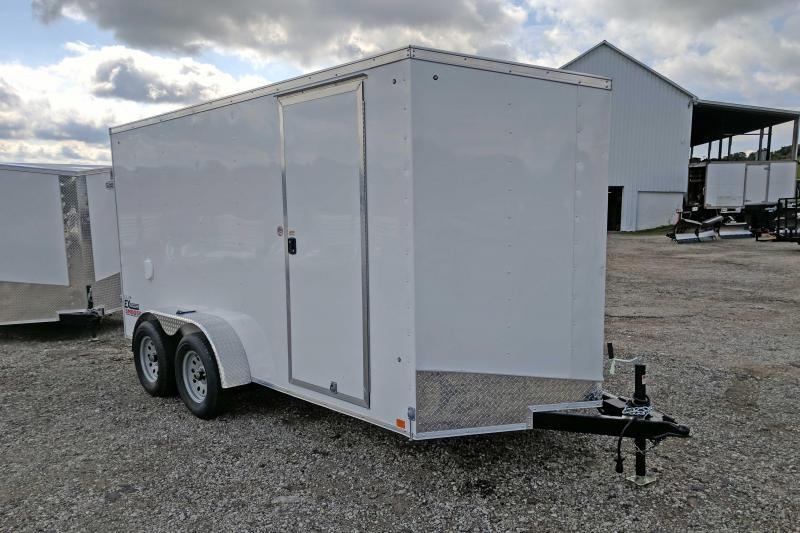 NEW 2018 Cargo Express 6X14 Tandem Sloped V-Nose w/ Ramp Door & 6