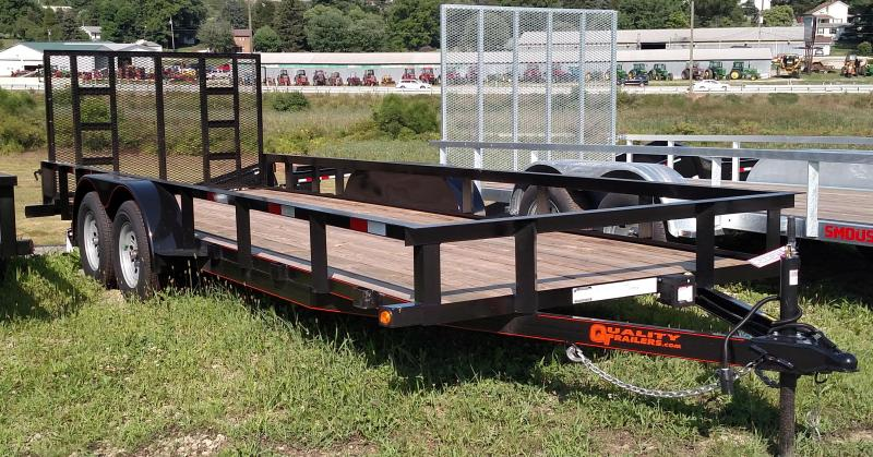 NEW 2017 Quality 6X20 General Duty Trailer w/ Spring Assist Gate (NO DOVE)