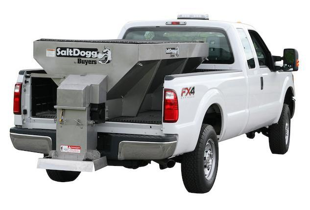 NEW SaltDogg 2.0 Cu. Yd. 8' Stainless Steel Hopper Salt Spreader
