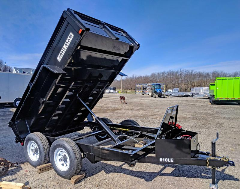 NEW 2018 Bri-Mar 6x10 LE Lo Pro Equipment Dump Trailer