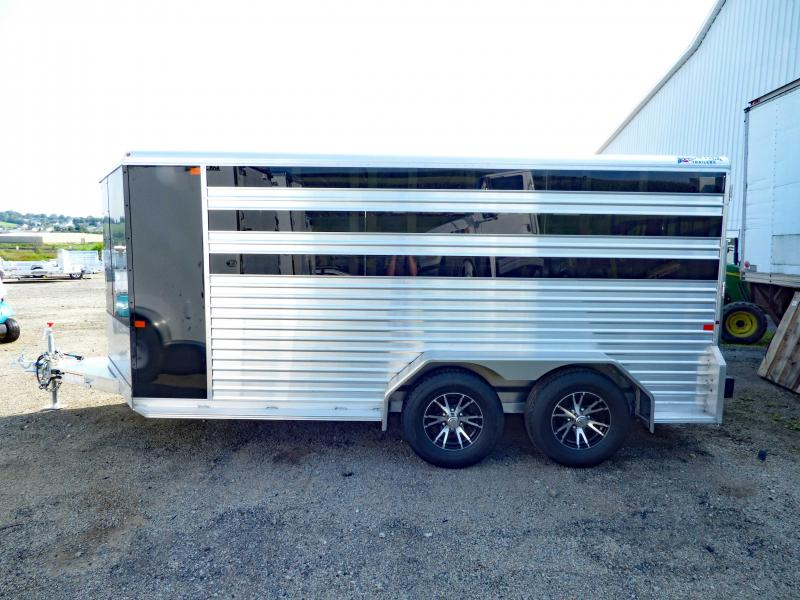 NEW 2018 Frontier 14' Lo Pro Aluminum (4) Pen Stock Trailer