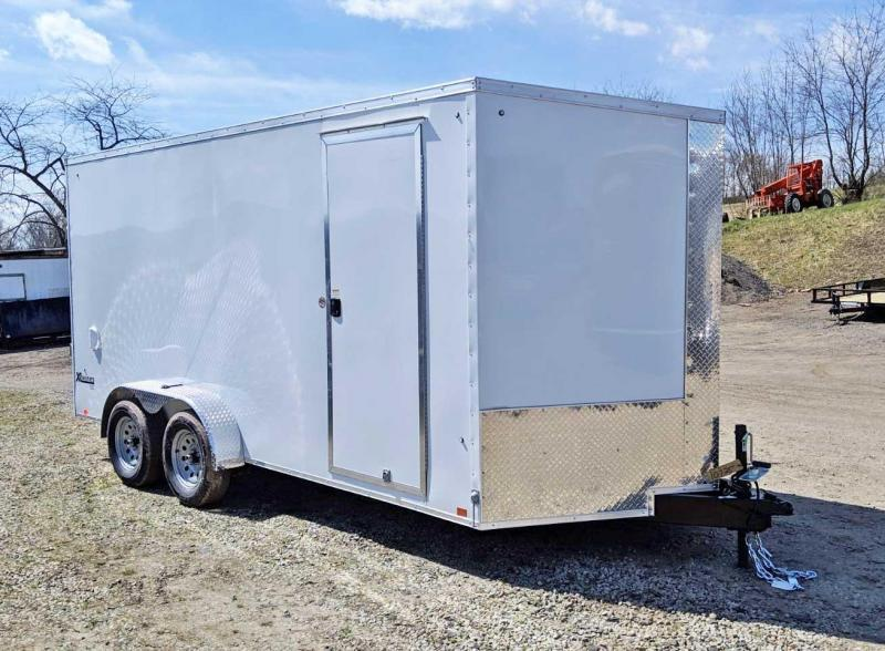 NEW 2020 Cargo Express 7x16 XLW Sloped V-Nose Cargo Trailer w/ Ramp
